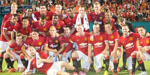 Manchester United Campeon Guinnes Champions Cup 2014 Sun Life Stadium. (Foto: Primicia Deportiva.com/ Iván Verdi)